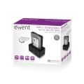 Ewent EW7012 USB 3.0 (3.1 Gen 1) Type-B Zwart HDD/SSD-dockingstation