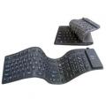 Flexibele Full-size USB Toetsenbord (Zwart)