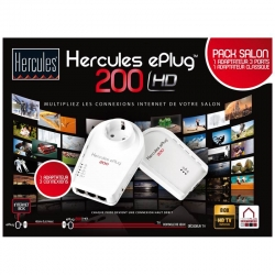 Hercules ePlug 200 HD Duo powerline adapter met AC passthrough (EU)
