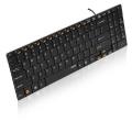Rapoo Wired Ultra-slim Keyboard + numeriek keypad - black