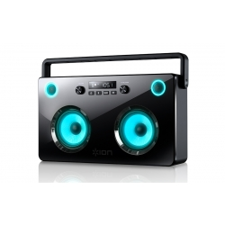 Ion Spectraboom Stereo Wireless Boombox with Lighted Speakers