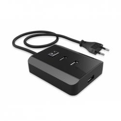 'Solid' Universeel Laadstation met 3 USB poorten, 240V naar 5V/3A (15w)